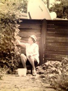 Grandma picking beans, Summer 1992